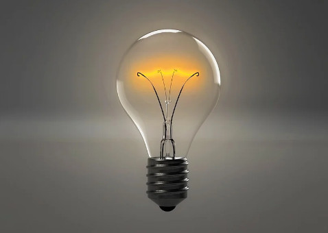 "The new idea ""lightbulb"""